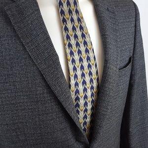 ERMENEGILDO ZEGNA Men's Silk Necktie ITALY Luxury